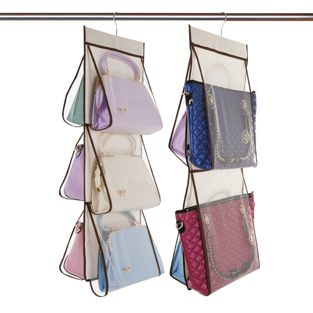 Handbag Organizer Wardrobe Storage Bag 2 Groups Of 6 Lattice +4 Lattices