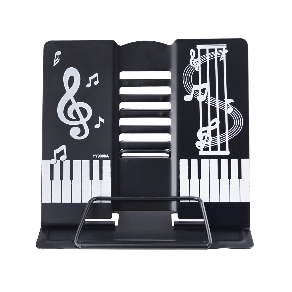 Portable Multi-Function Piano Design Reading Stand Tablet/Cookbook/Textbook/Sheet Music/Tablature/Painting/Book Stand Bookrest Document Holder with 6 Adjustable Positions