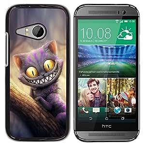 LECELL -- Funda protectora / Cubierta / Piel For HTC ONE MINI 2 / M8 MINI -- Friendly Monster Cat --