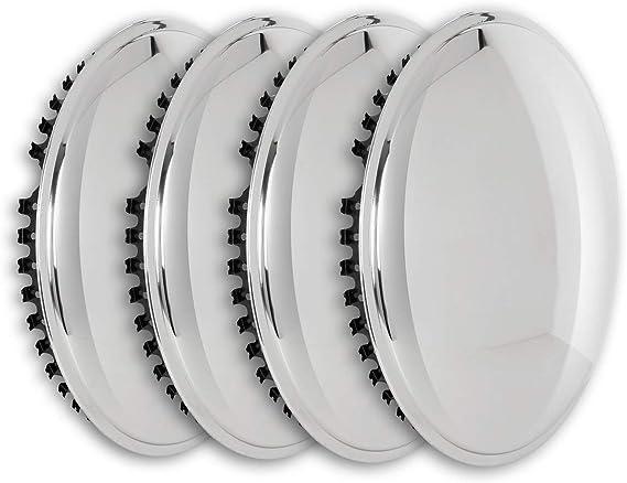 Universell Passendes Radzierblendenset 4 Stück 13 Zoll Moon Caps Für Pkw Oldtimer Youngtimer Aus Hochglanzpoliertem Edelstahl Auto