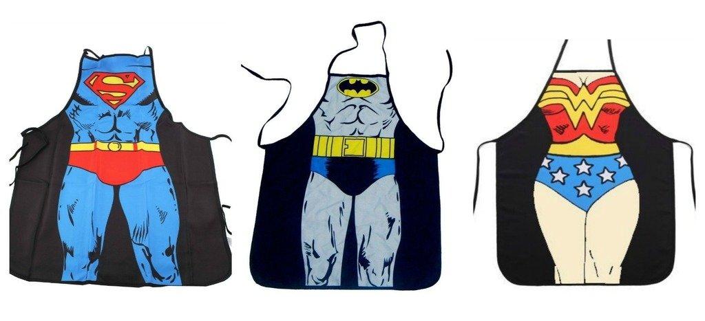 DC Comics Justice Leagueスーパーマン、バットマン、and Wonder Woman Superhero文字子( Youth、小柄エプロンセット   B01CRE5MWM