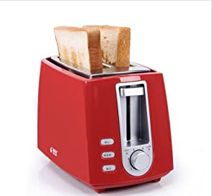 QSEVEN-Home toaster 2toasters automatic multi-functional breakfast bread machine (red)