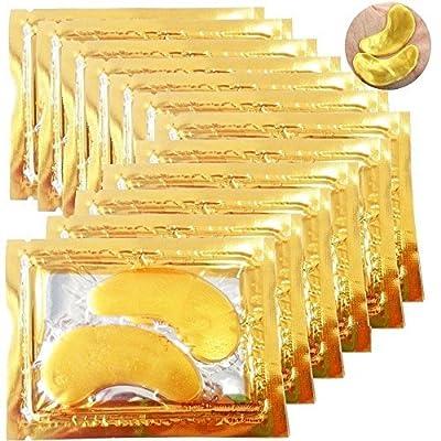danapp 10x Premium Crystal Colágeno Ojos Máscaras de la cara de polvo de oro almohadilla anti envejecimiento Arrugas