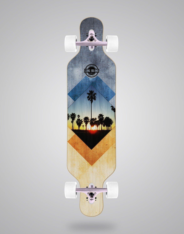 Skate Longboard Cruiser Complete ¨Long Island¨. Model  Essential 40
