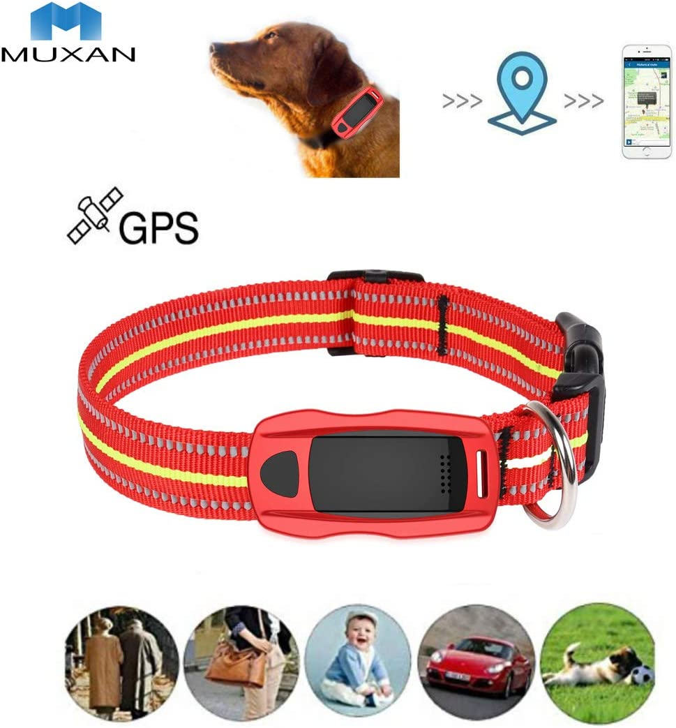 Hangang Mini Wifi GPS Tracker para Mascotas, Il 2 ° Generation Antipérdida Perro/cat Finder Global GPS/GSM SIM 200H Standby Largo, Realtime Training Collar Actividad, Impermeable Plataforma