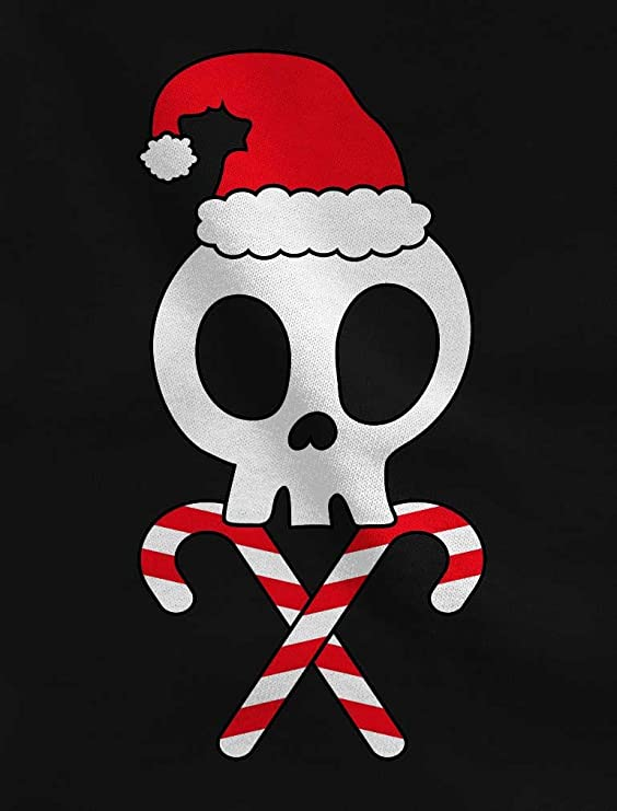 Amazon.com: Skulls Cross-Bones Santa Hat Funny Christmas 3/4 Sleeve Baseball Jersey Shirt: Clothing