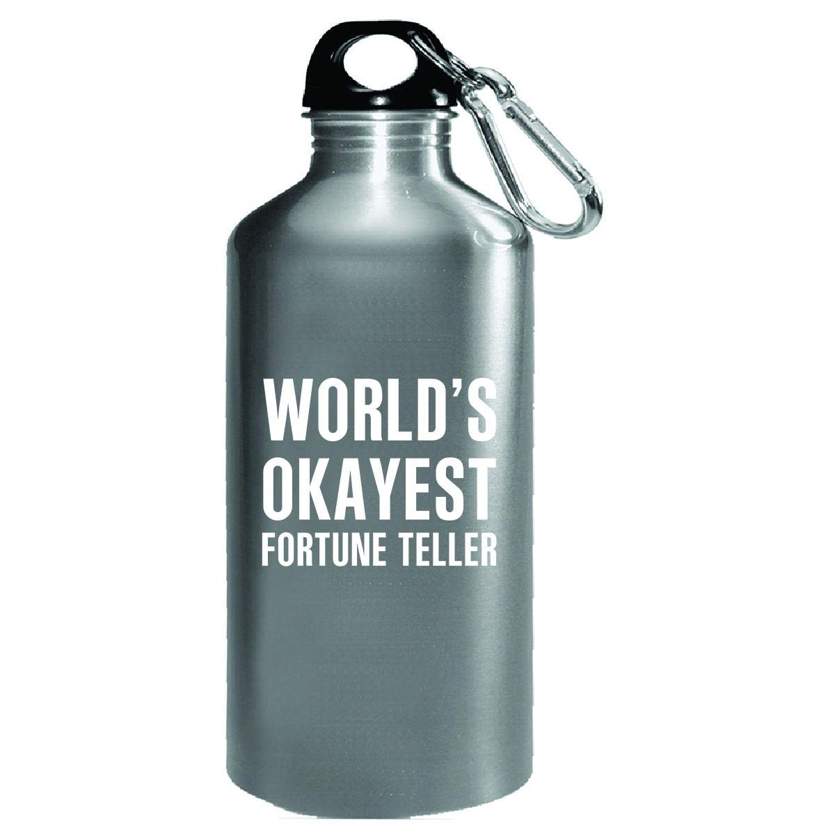 World's Okayest Fortune Teller Funny Gift - Water Bottle