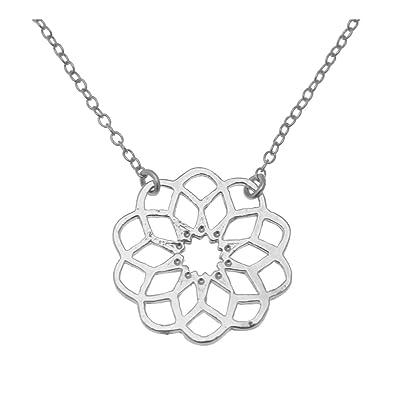 5dadcf7a969 Collier motif pendentif rosace collection CADIX  Amazon.fr  Bijoux