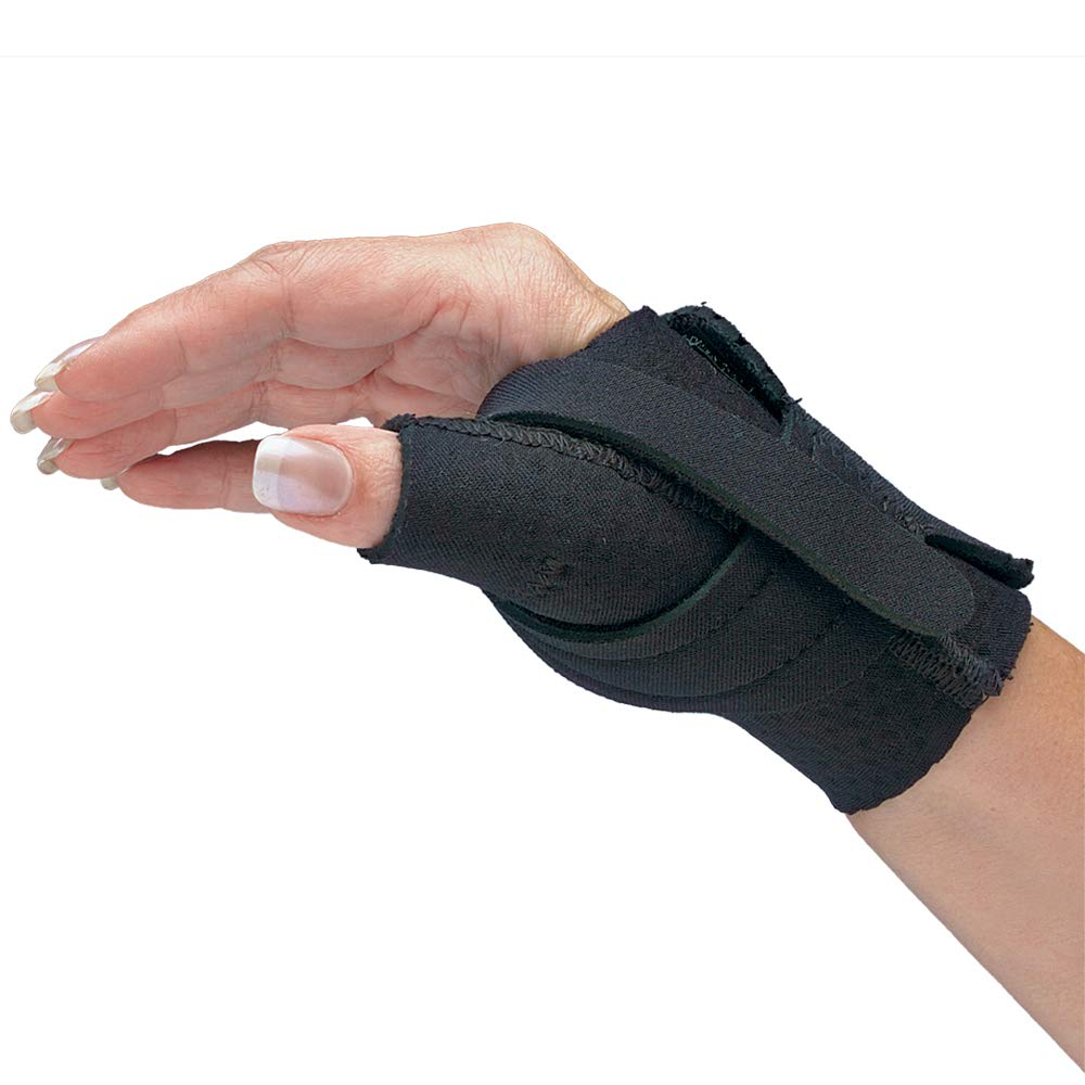 Comfort Cool Thumb CMC Restriction Splint. Patented Thumb Brace Provides Support and Compression. Helps with Arthritis, Tendinitis, Surgery, Dislocations, Sprains, Repetitive Use. Left Medium