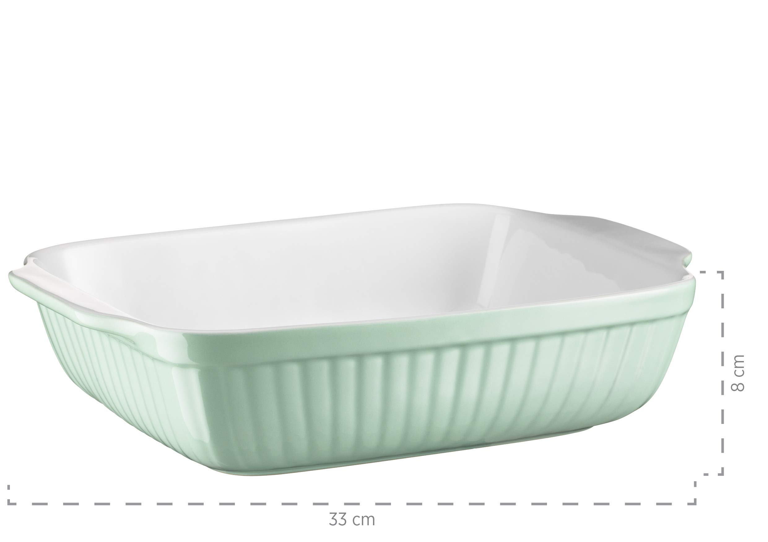Mäser Kitchen Time 931486 Rectangular Baking Dish for Lasagne, Baking and Tiramisu Mould, Scratch and Cut-Resistant Square Oven Dish Ceramic by Mäser (Image #1)