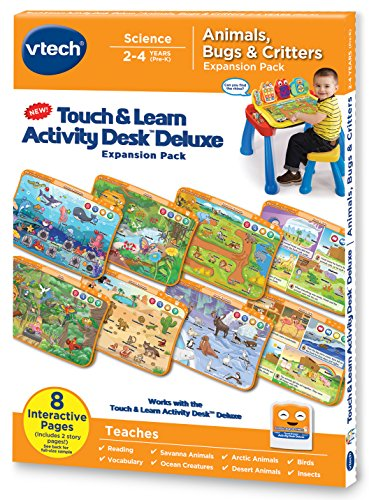 Toddler Activity Desk - VTech Touch and Learn Activity Desk Deluxe Expansion Pack - Animals, Bugs and Critters
