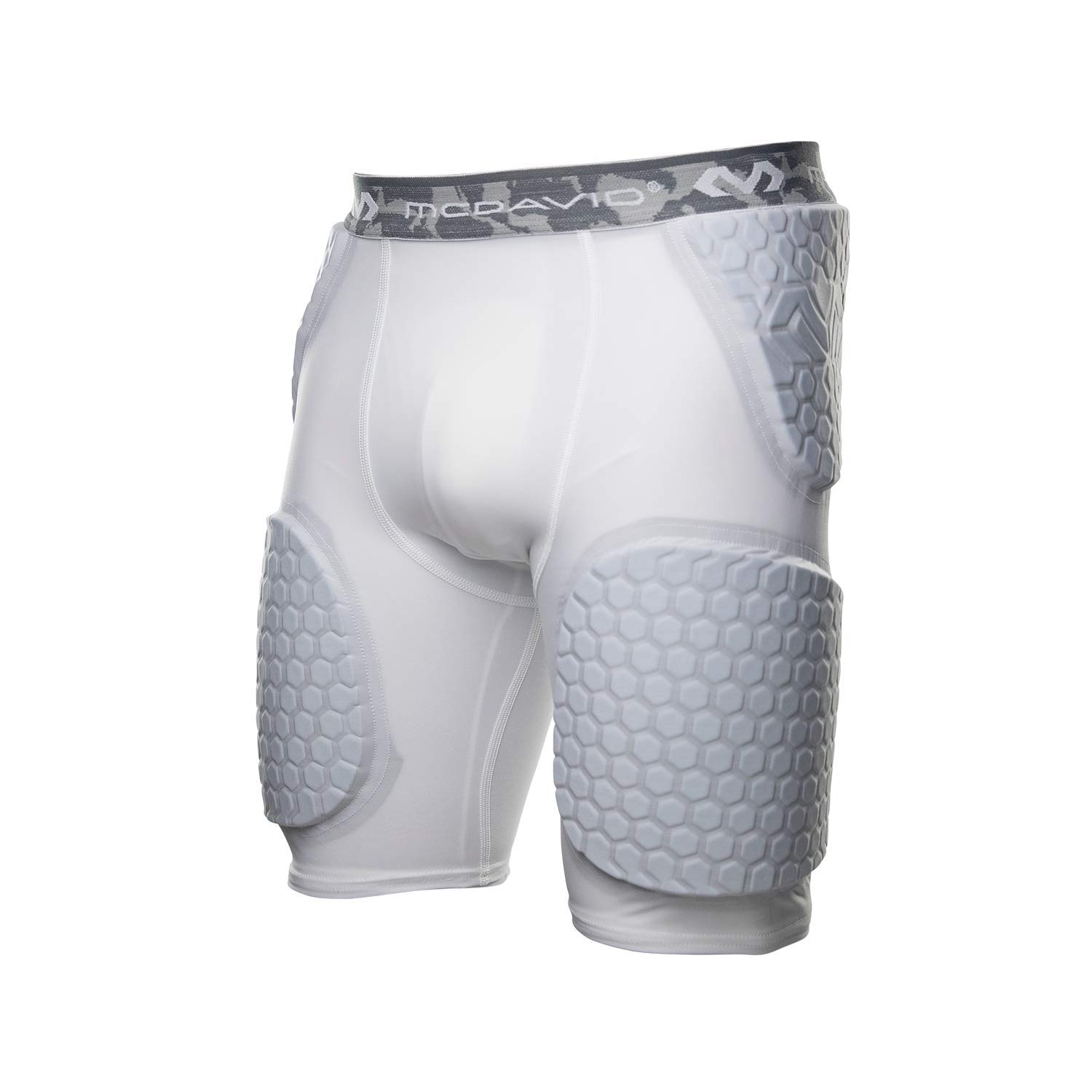 McDavid Hex Short with Contoured Wrap Around Thigh, 3X-Large, White
