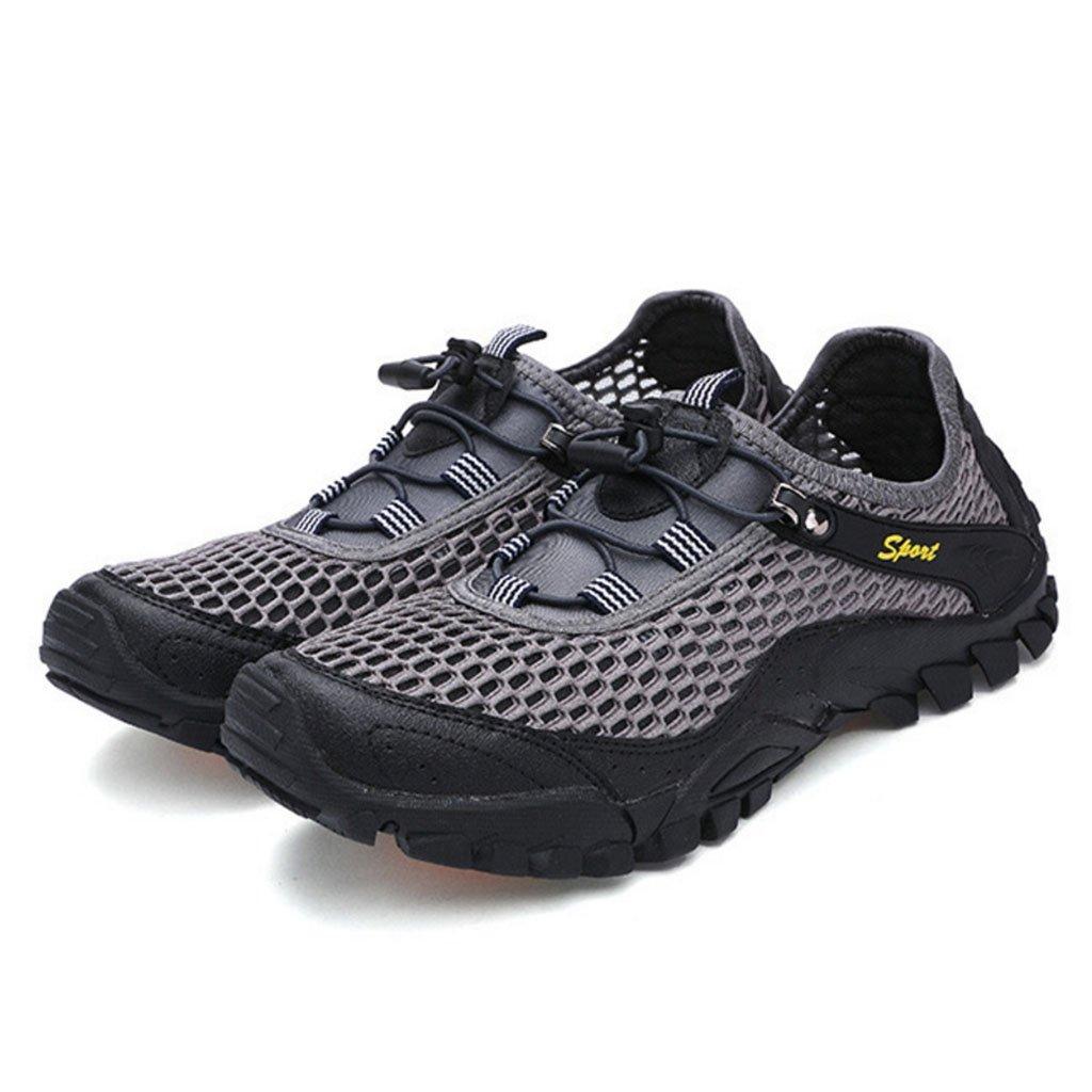 GAOLIXIA Männer Outdoor Sports Schuhe Sandalen Sommer Flache Freizeitschuhe Atmungsaktives Mesh Klettern Schuhe Faul Laufschuhe