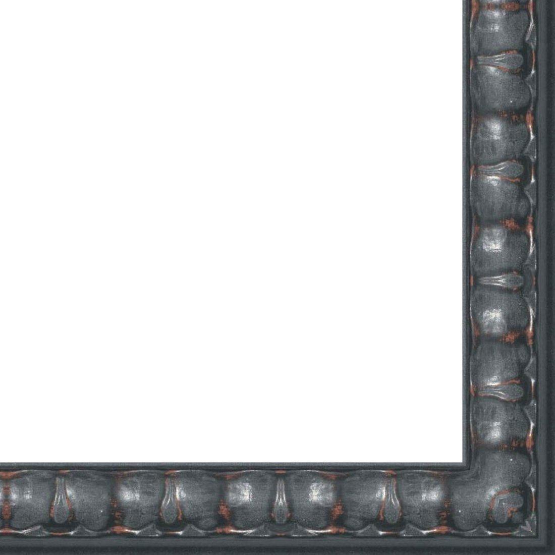 Picture Frame Moulding (Wood) 18ft bundle - Distressed/Aged Black Finish - 1.5'' width - 5/8'' rabbet depth