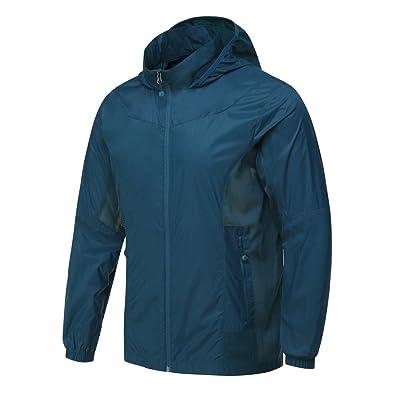 Hitvlis 2 in 1 Hidden Hood Lightweight Outdoors Sports Breathable Jacket