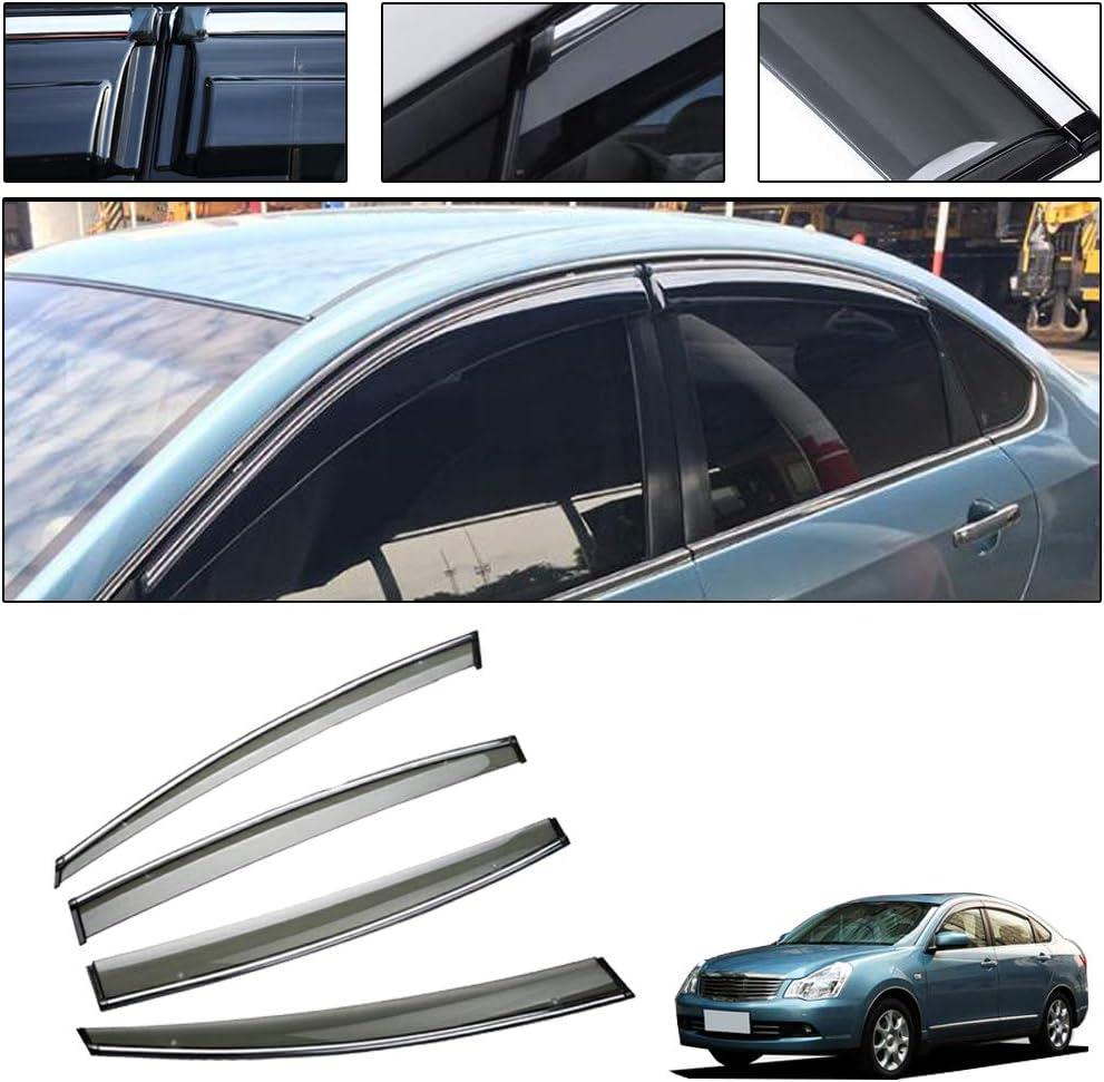 saitake Windabweiser F/ür Nissan X-Trail T32 2014-2019 4PCS Autofenster Visier Sonne Regen Rauchabzug Schatten Klebeband Au/ßenvisiere