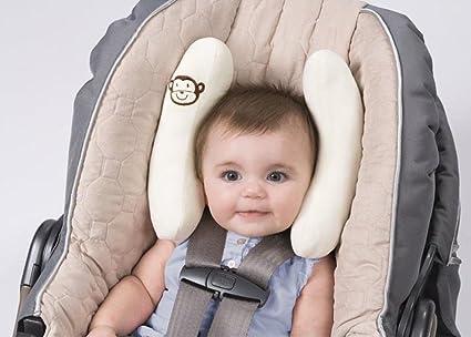 JUYUAN Protección de Cabeza para Bebé para Coche Viaje Cochecitos Viaje Almohadilla Soporte para Cabeza Cojín