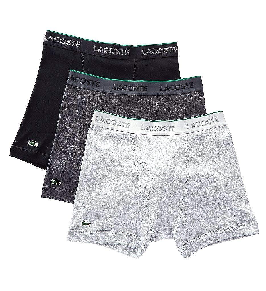 c55c4d5fbc038 Lacoste Men s 100% Cotton Boxer Brief Underwear