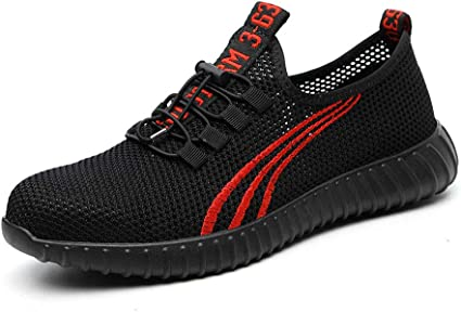 Mens Summer Lightweight Safety Steel Toe Mesh Work Shoes Running Sports Trainers