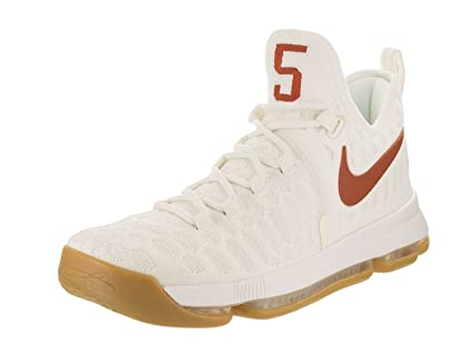 newest f5f55 ae071 Image Unavailable. Image not available for. Color  Nike Men s Zoom KD 9 UT  Texas Sail Sail Basketball Shoe ...