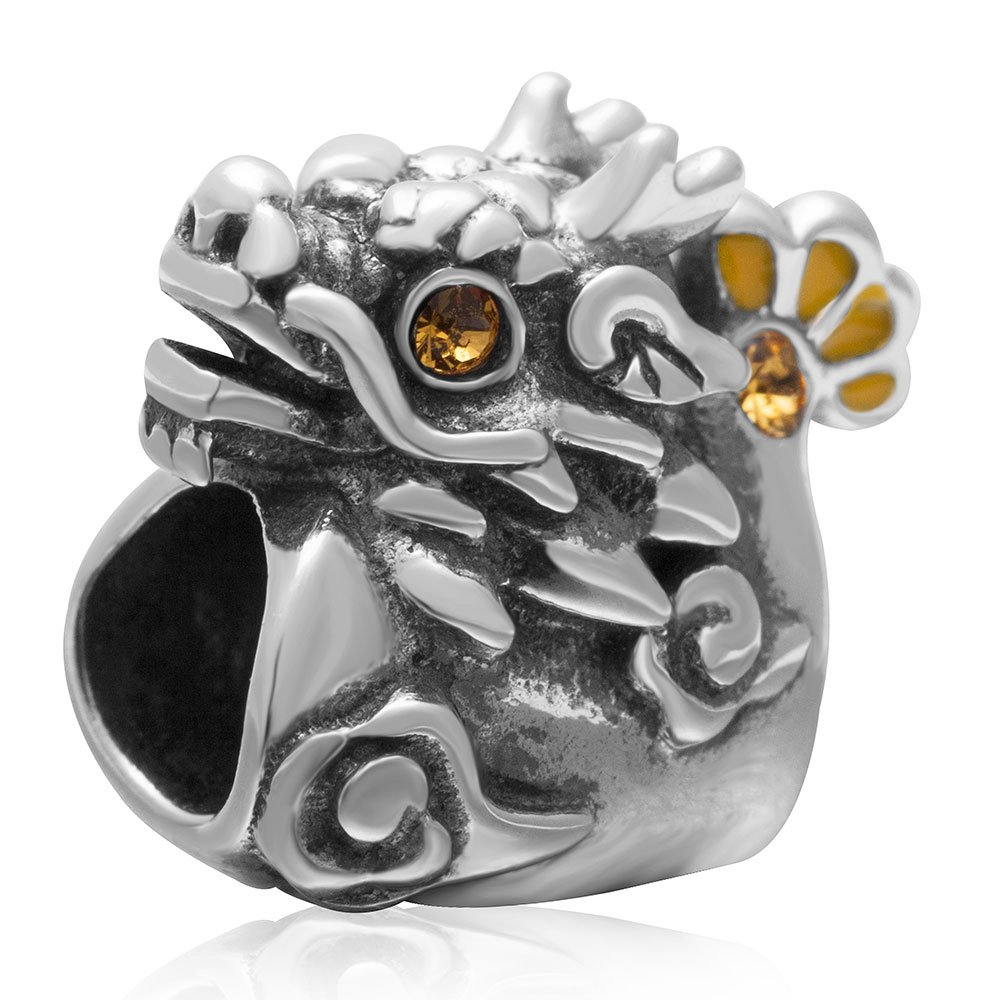 Dragon Charm 925 Sterling Silver Animals Beads fit for Fashion Charms Bracelets