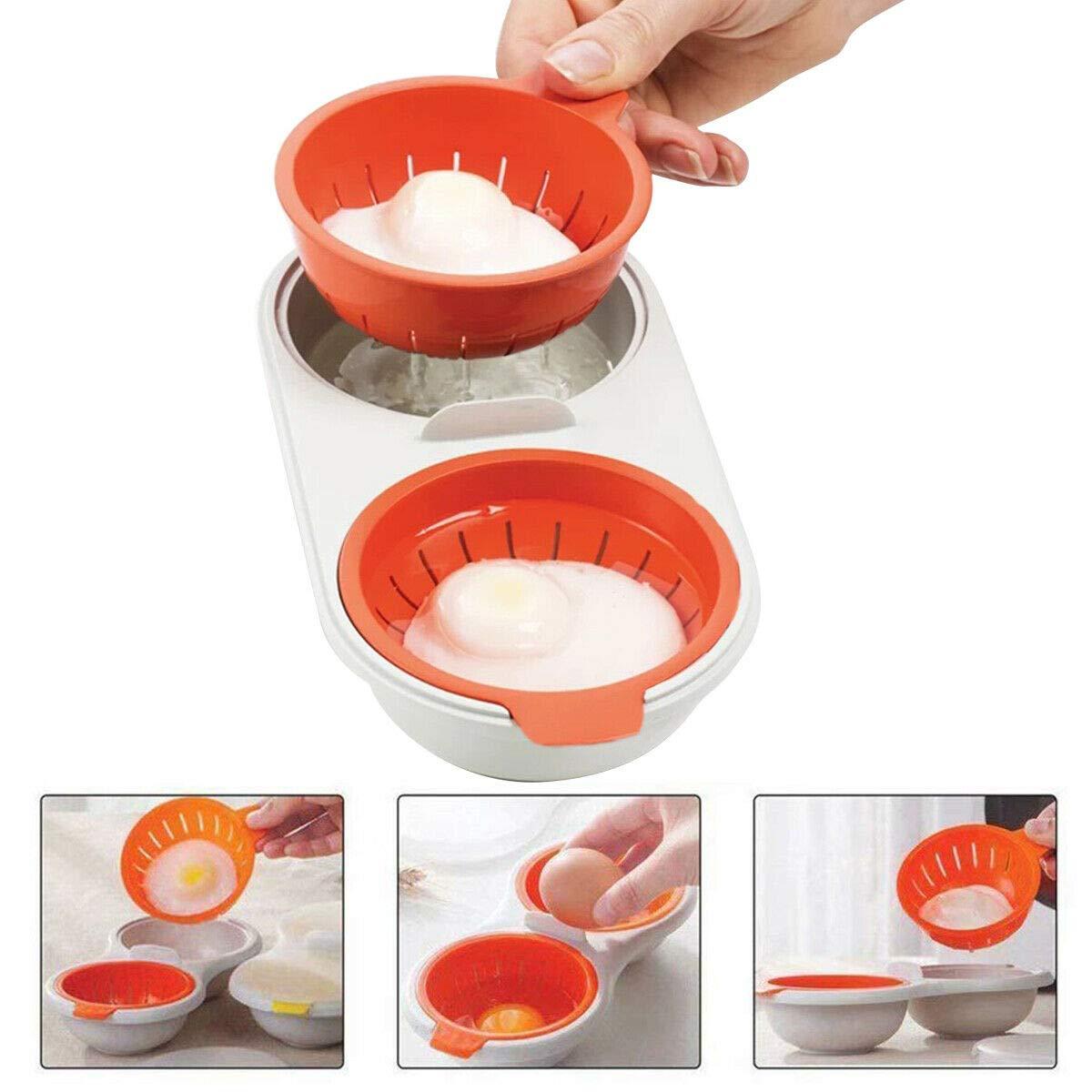 PDHJHT Microondas Taza Doble Huevo Cocina vaporera Huevo ...