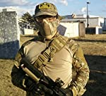 "OneTigris 6"" Foldable Half Face Mesh Mask Military Style Comfortable Adjustable Tactical Lower Face Protective Mask 9 Colors Available"