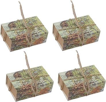 Amazon.es: Amosfun 25pcs Cajas de Dulces Mapa del Mundo Patrón Tipo Cajón Cajas de azúcar con Cuerda Favores de Fiesta para el Festival de Boda Ducha Nupcial: Juguetes y juegos
