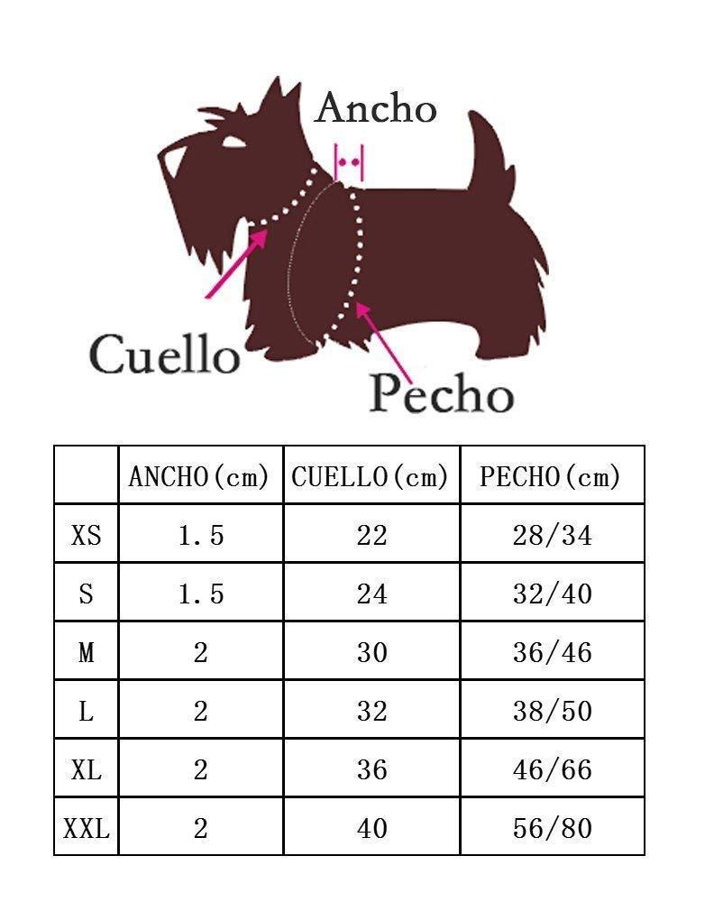 XS, Rosado BPS-3862RS BPS Arn/és para Perros Mascotas Callar para Perros Mascotas 6 Tama/ños para Elegir para Perro peque/ño Mediano y Grande