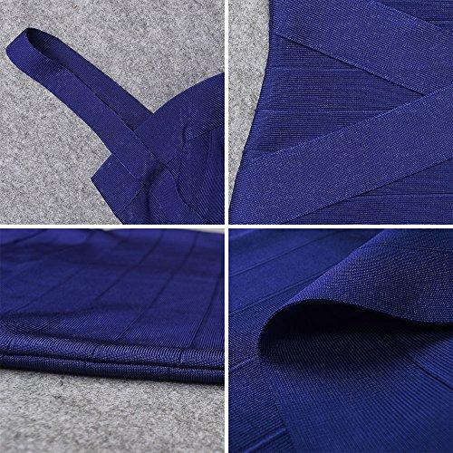 Spaghetti Bleu HLBandage Mini Strap Women's Dress Bandage Rayon Marine v5wwqS01