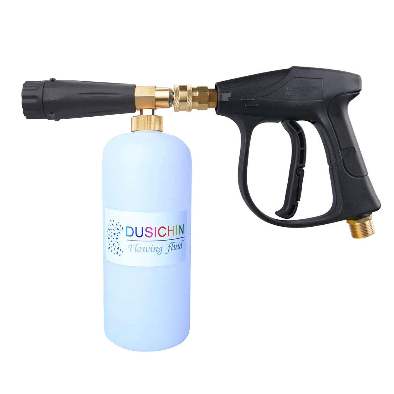 DUSICHIN DUS-113 Pressure Washer Jet Wash Quick Release Snow Foam Lance,3000 PSI High Pressure Washer Gun,M22 Thread 1/4''