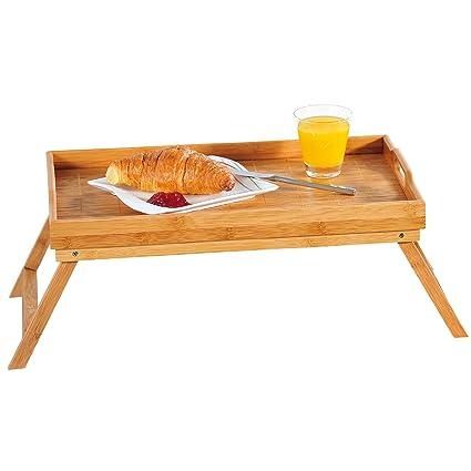 Kesper 77614 - Bandeja de desayuno con patas, madera de bambú