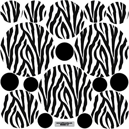Zebra Print Wall Decals Large Dots Repositionable Peel and Stick  sc 1 st  Amazon.com & Amazon.com: Zebra Print Wall Decals Large Dots Repositionable Peel ...