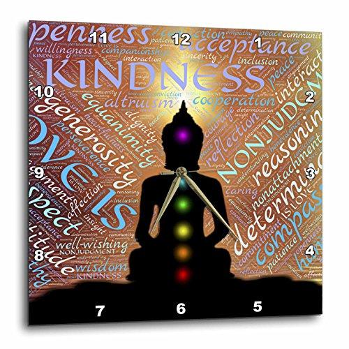 Buddha - Modern Buddha Symbol Text Design - Buddhas Wall Clock