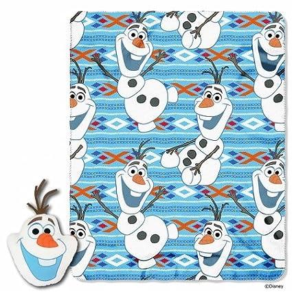 Disney Frozen Big Face Olaf Fleece Throw in Pocket Set, 40 x 50' 40 x 50 The Northwest Company 1DFZ154000001RET