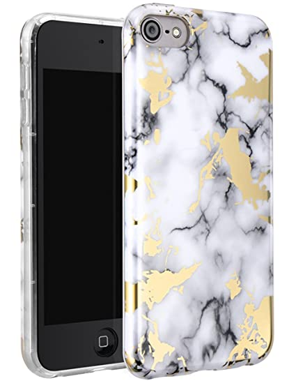 on sale def92 b102d WORLDMOM iPod Touch 6 Case, iPod Touch 5 Case, iPod Touch 6th Case,Marble  Design Slim Fit Hybrid Soft Rubber Hard PC Shock Proof Protective Cover  Case ...