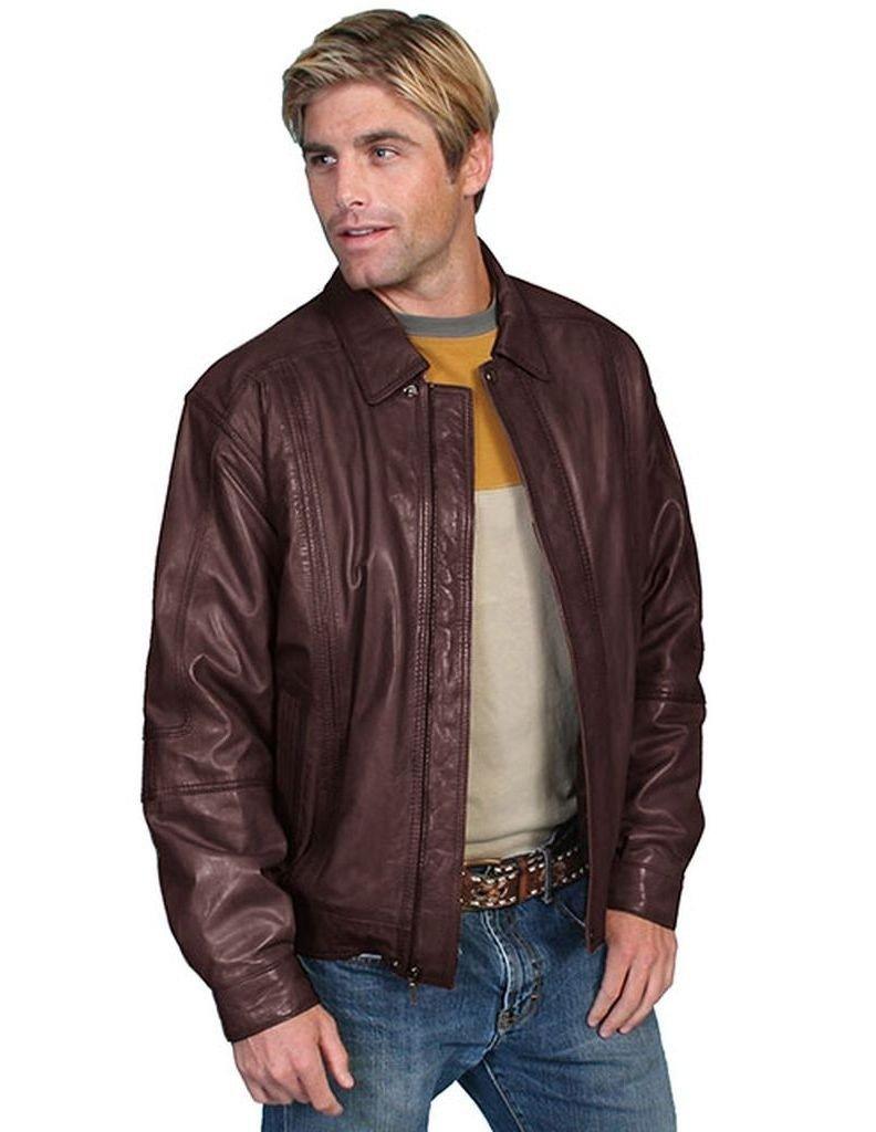 Scully Men's Premium Lambskin Jacket Tall Chocolate XX-Large Tall