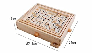 CC*CD 3D Maze Children Wooden Puzzle Game Wooden Maze for Kids Educational (20 Checkpoints)