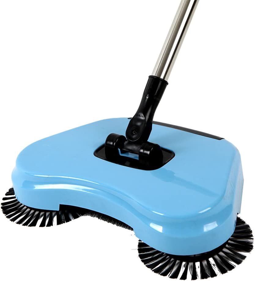 Binglinghua 360 Rotary Home Use Magic Manual Telescopic Floor Dust Sweeper Without Electricity,Pack of 2 (Blue)