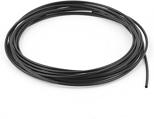 sourcingmap/® 2pcs 1mm dia 2:1 gaine thermor/étractable tube gaine fil c/âble noir 10m longueur