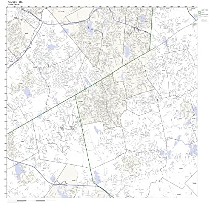Amazon.com: Brockton, MA ZIP Code Map Laminated: Home & Kitchen