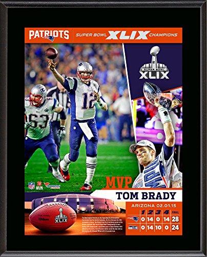 Tom Brady New England Patriots Super Bowl XLIX Champions 10.5