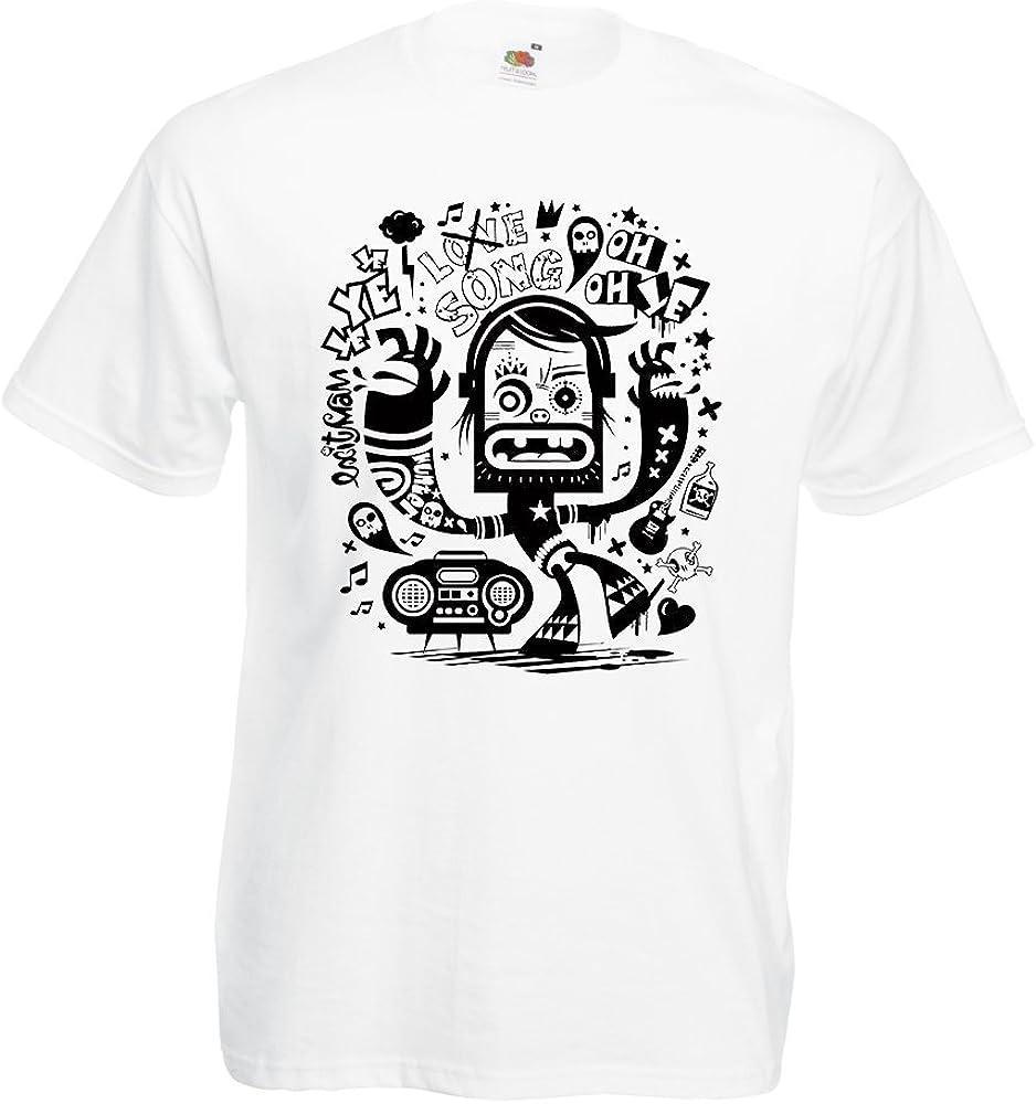 lepni.me N4360 Camiseta Bailarina Friki (Small Blanco Multicolor): Amazon.es: Ropa y accesorios