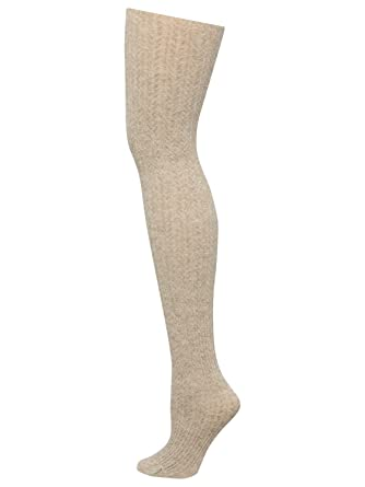 da07a589cef19 M&Co Ladies Cosy And Warm Cable Knit Plain Coloured Comfort Fit Tights:  Amazon.co.uk: Clothing
