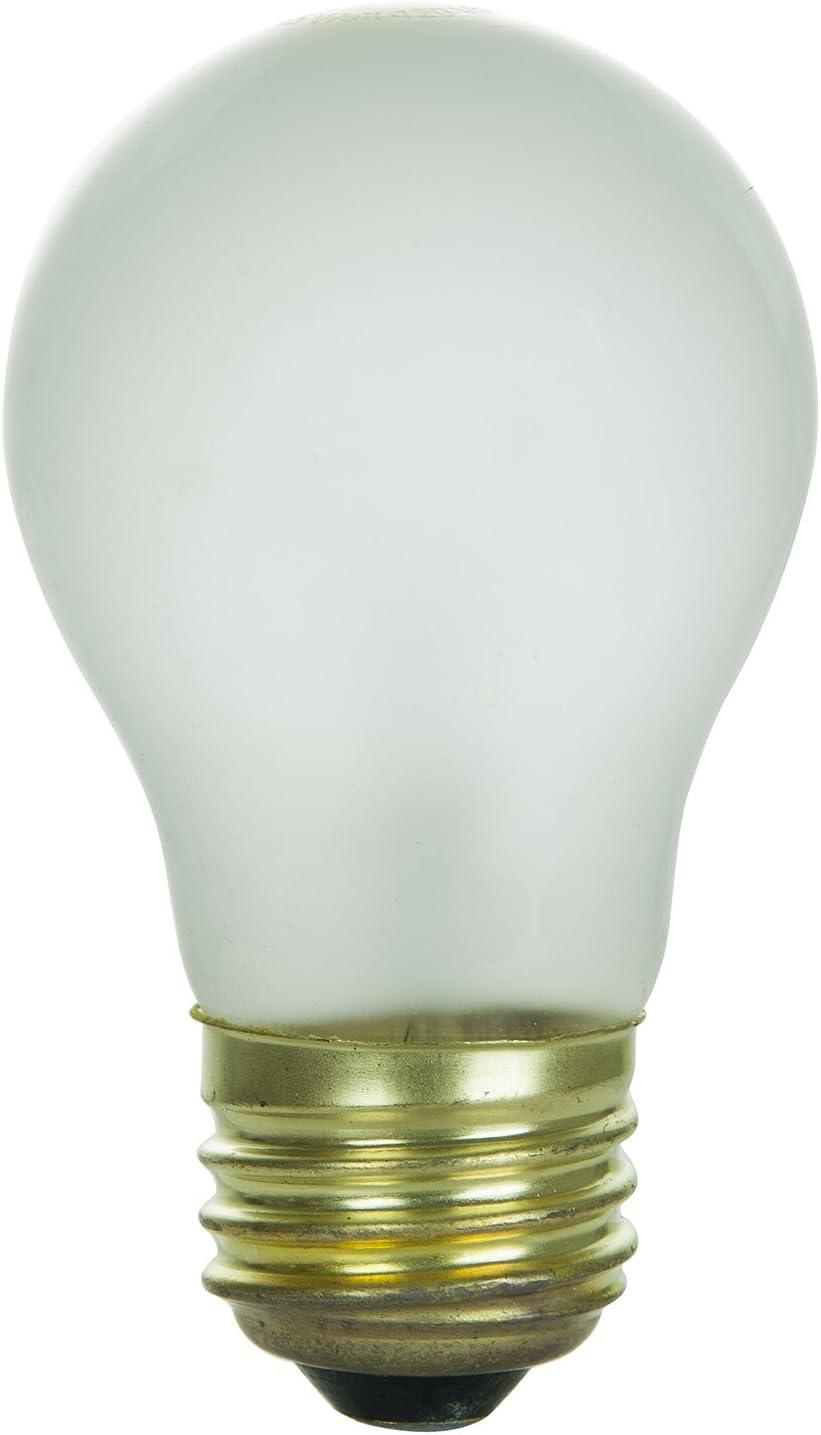 Sunlite 15A15/FR Incandescent 15-Watt, Medium Based, A15 Appliance Bulb, Frost