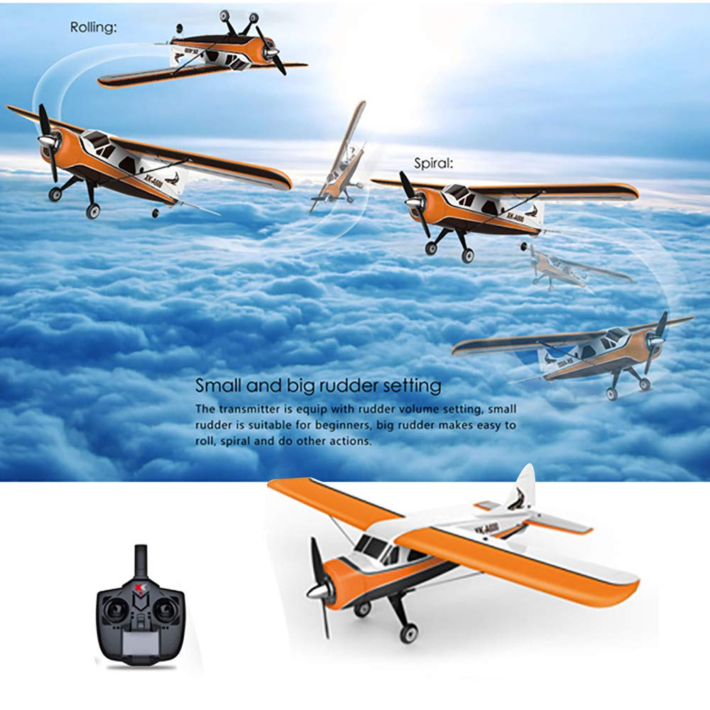 Choosebuy 3D6G Remote Control Airplane, A600 2.4G Cool RC Radio Aircraft Drone Airplane Toys for Indoors/Outdoors Flight Toys, Built in 3-axis 6-axis Gyroscope Mode Conversion Super Easy to Fly (A) by Choosebuy (Image #3)