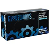 AMMEX - IN42100-BX - Nitrile Gloves - Gloveworks - Disposable, Powdered, Industrial, 5 mil, Small, Blue (Box of 100)