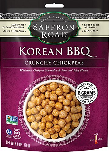 Saffron Road Crunchy Chickpeas, Korean BBQ, 6 Ounce