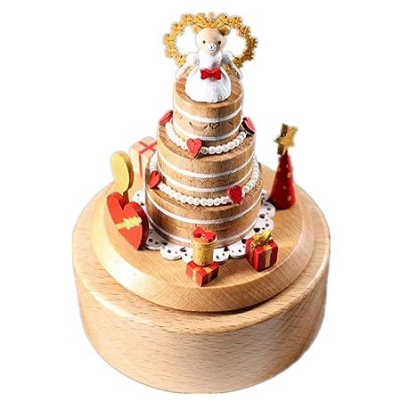 Estatuillas Pastel de cumpleaños Caja de música Caja de ...