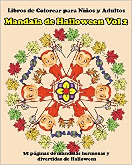 Libros De Colorear Para Ninos Y Adultos Mandala De Halloween Vol 2